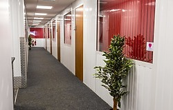 Corridor to the offices