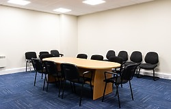 Meeting room facilities available with conference table